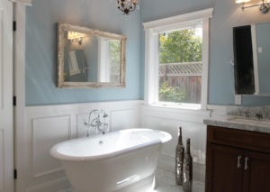 Picture of bathroom wall panelling