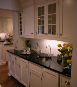 Hamptons style kitchen cabinets