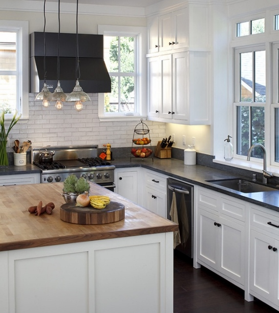 Kitchens and bathrooms building a coastal home for Black shaker kitchen cabinets