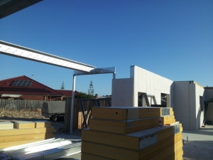 steel beam install
