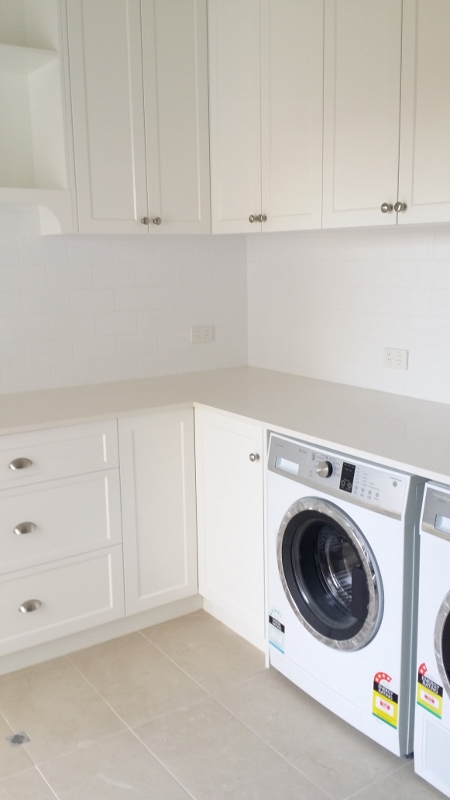 laundry integrated washing machine and dryer