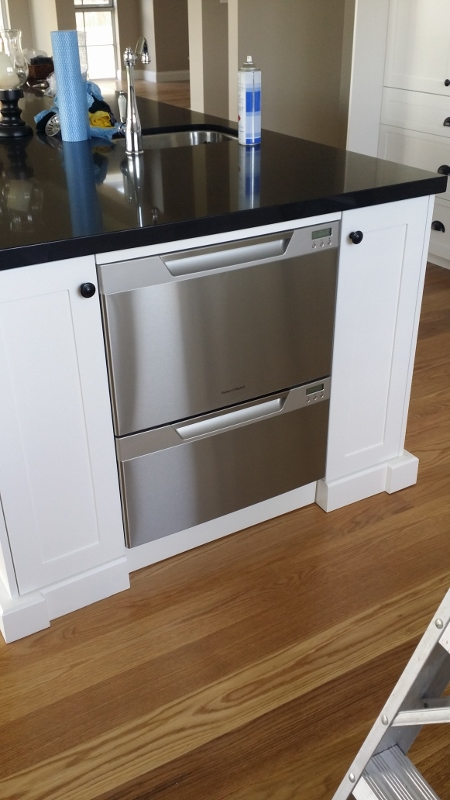 Dishwasher at end of island