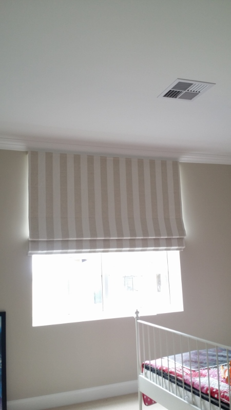 2nd Bedroom roman blind
