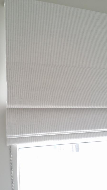 Bedroom roman blinds
